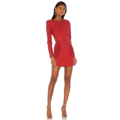 エヌビーディー NBD レディース ワンピース ミニ丈 ワンピース・ドレス Dionne Mini Dress Rhubarb Red