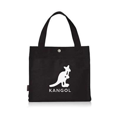 [カンゴール] トートバッグ KANGOLロゴもこもこサガラ刺繍 コットンキャンバス (ブラック Free Size)