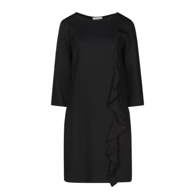 ROBERTA SCARPA ミニワンピース&ドレス ブラック L レーヨン 68% / ナイロン 27% / ポリウレタン 5% ミニワンピース&
