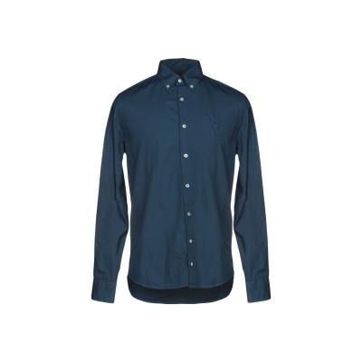 ヘンリー コットンズ HENRY COTTON'S シャツ ブルー 43 100% コットン シャツ