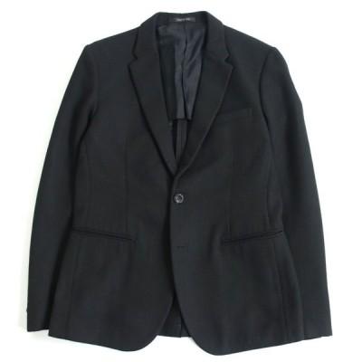 美品□黒タグ エンポリオアルマーニ JOHNNY LINE シングル テーラードジャケット/ブレザー ブラック 50 イタリア製 正規品 メンズ