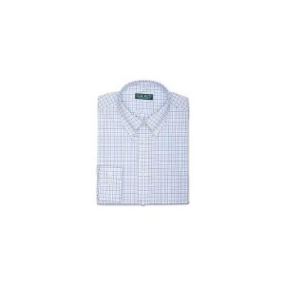 ラルフローレン メンズ シャツ トップス Men's Regular-Fit Ultraflex Non-Iron Check Dress Shirt Blue