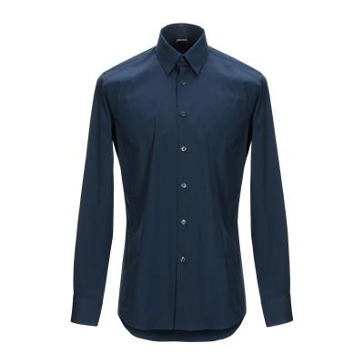 ジャストカヴァリ JUST CAVALLI シャツ ダークブルー 41 コットン 97% / ポリウレタン 3% シャツ