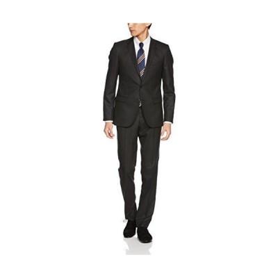 タカキュー m.f.editorial 短丈ストレッチ シャドーストライプ 黒 2ピース スーツ 1.10013E+14 メンズ 黒 A5