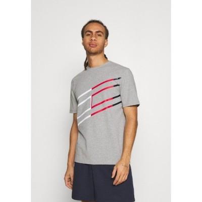 トミー ヒルフィガー Tシャツ メンズ トップス GRAPHIC TEE - Print T-shirt - grey