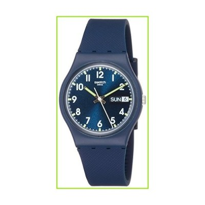 Swatch Originals Swiss-Quartz Silicone Strap, Blue, 19 Casual Watch (Model: GN718)【並行輸入品】
