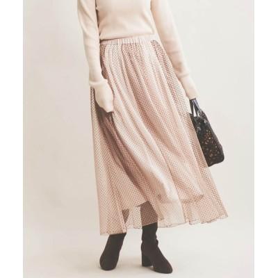 The Virgnia / フロッキードットストライプチュールスカート WOMEN スカート > スカート