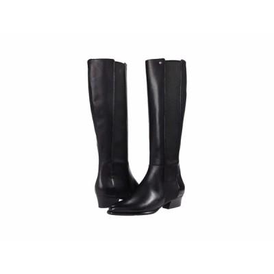 コールハーン ブーツ&レインブーツ シューズ レディース Hallee Stretch Boot (45 mm) Black Princess/Tonal Stretch Woven Gore/Black Stack