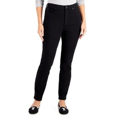 チャータークラブ Charter Club レディース ジーンズ・デニム ボトムス・パンツ Tummy-Control High-Rise Skinny Jeans Saturated Black