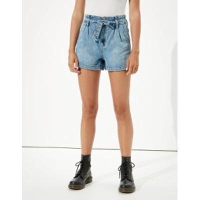 アメリカンイーグル レディース ハーフパンツ・ショーツ ボトムス AE Paperbag Denim Mom Shorts Medium Vintage Wash