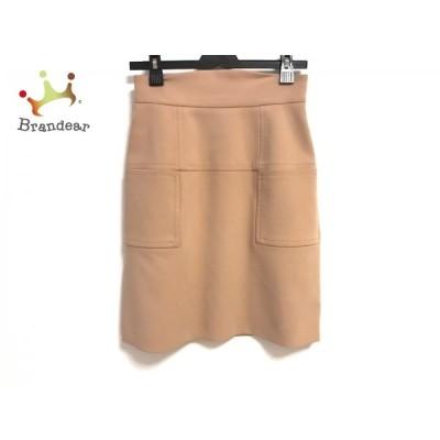 フォクシーニューヨーク FOXEY NEW YORK スカート サイズ40 M レディース 美品 - ライトブラウン   スペシャル特価 20201121