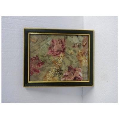 イタリア製額 フレーム 花柄ファブリック アートパネル 壁掛け 192911