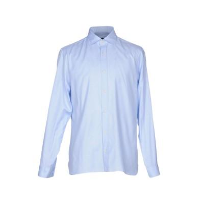 ZZEGNA シャツ スカイブルー 39 コットン 100% シャツ