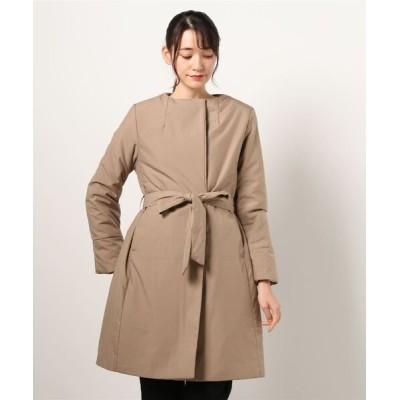 qualite / 【THIN DOWN】【WEB・一部店舗限定】ノーカラーコート WOMEN ジャケット/アウター > ダウンジャケット/コート