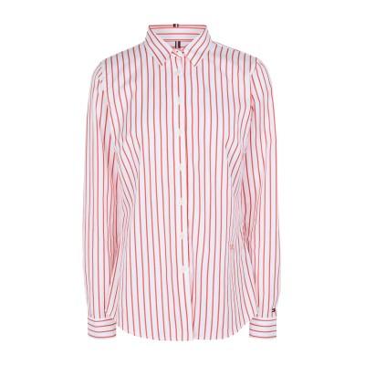 YOOX - トミーヒルフィガー TOMMY HILFIGER シャツ ホワイト 8 オーガニックコットン 100% シャツ