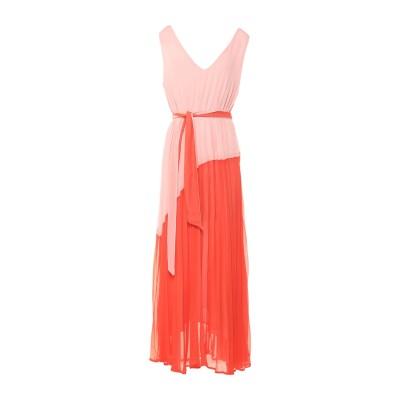 KORALLINE ロングワンピース&ドレス ピンク 42 ポリエステル 100% ロングワンピース&ドレス