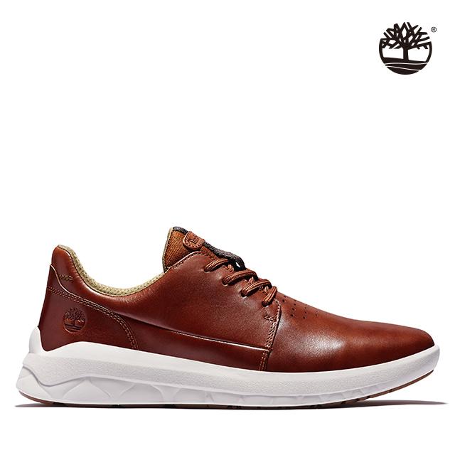 Timberland 男款中棕色全粒面革牛津休閒鞋|A2Q9E212