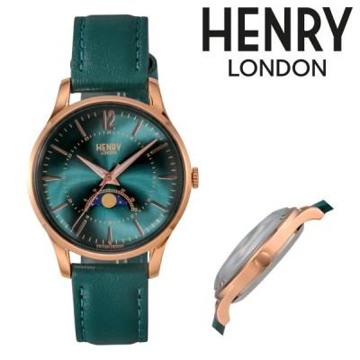 ヘンリーロンドン 腕時計 HERITAGE HL34-LS-0382 メンズ レディース HENRYLONDON ステンレススチール アクリルガラス 本革