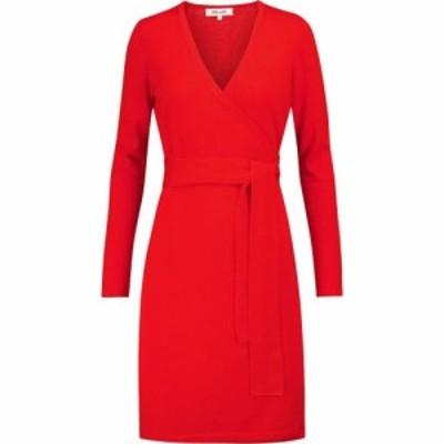 ダイアン フォン ファステンバーグ Diane von Furstenberg レディース ワンピース ラップドレス Linda wool and cashmere wrap dress Pop