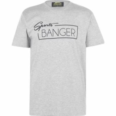 スラセンジャー バンガー Slazenger Banger メンズ Tシャツ トップス T Shirt Adults Grey SprtBng