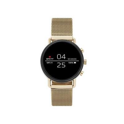 Skagen Connected Falster 2 Stainless Steel Magnetic Mesh Touchscreen Smartwatch, Color: Gold (Model: SKT5111)