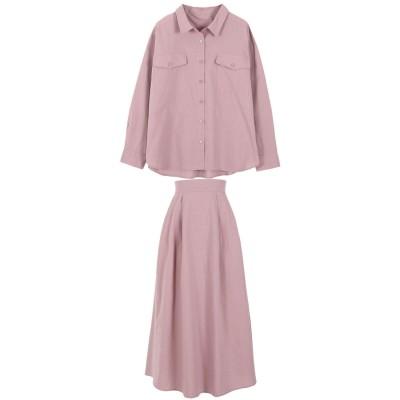 コウベレタス KOBE LETTUCE 【2点セット】シャツ+スカートセットアップ [E2390] (ピンク)