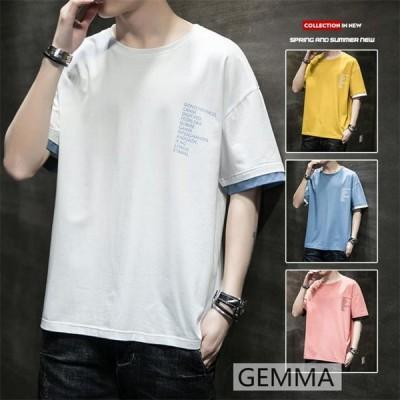 tシャツ メンズ Tシャツ  半袖 綿  薄手 夏 シンプル カジュアルシャツ コットン 青少年 高品質 M~4XL