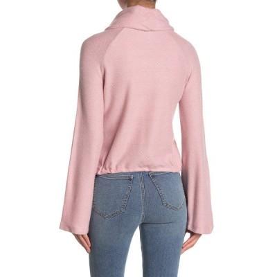 カップケーキアンドカシミア レディース Tシャツ トップス Giulia Cowl Neck Sweater TAWNY PINK