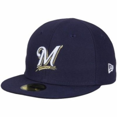 New Era ニュー エラ スポーツ用品  New Era Milwaukee Brewers Infant Navy Authentic Collection On-Field My First 59FIFTY Fitted Ha