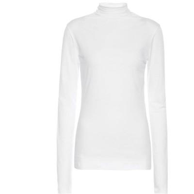 ベルベット グラハム&スペンサー Velvet レディース トップス Talisia stretch-cotton turtleneck top White
