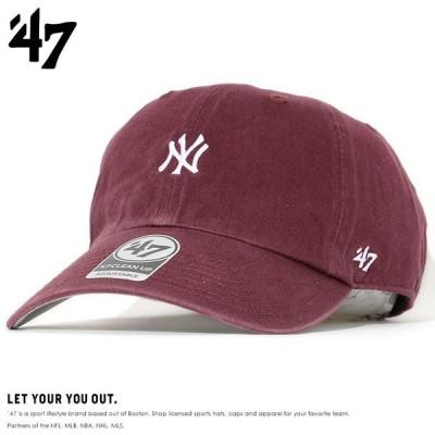 47BRAND フォーティーセブンブランド キャップ 帽子 ストラップバック CLEAN UP スモール NY **(BSRNR17GWS-KM)