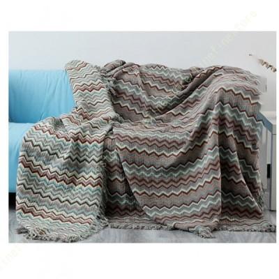 北欧風 マルチカバー 長方形 ソファカバー おしゃれ 多機能 ブランケット ベッドカバー フリンジ付き 綿 1人掛け 2人掛け カウチ ベッドカバー 毛布