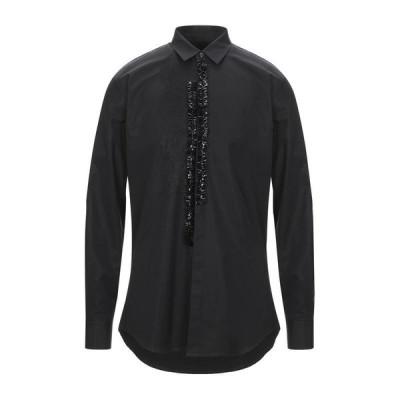 DSQUARED2 無地シャツ ファッション  メンズファッション  トップス  シャツ、カジュアルシャツ  長袖 ブラック