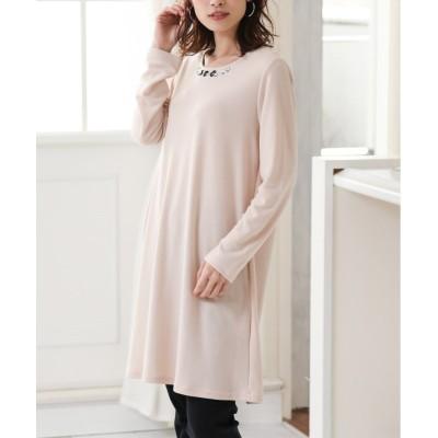ビジュー付Aラインポンチワンピース (ワンピース)Dress