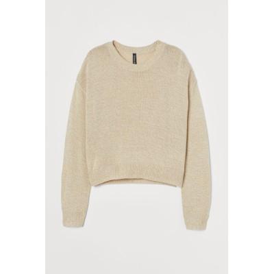 H&M - セーター - ベージュ