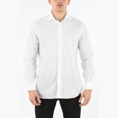 CORNELIANI/コルネリアーニ コットンシャツ White メンズ 秋冬2019 popeline spread collar shirt dk