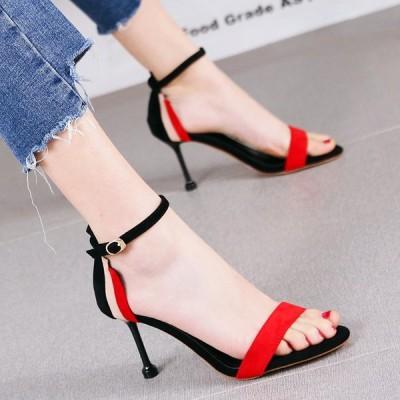 サンダル レディース ヒールサンダル ハイヒール サマー 歩きやすい 夏 カジュアル シューズ 婦人靴 痛くない 履きやすい 通勤 ピンヒール 新作 大人気