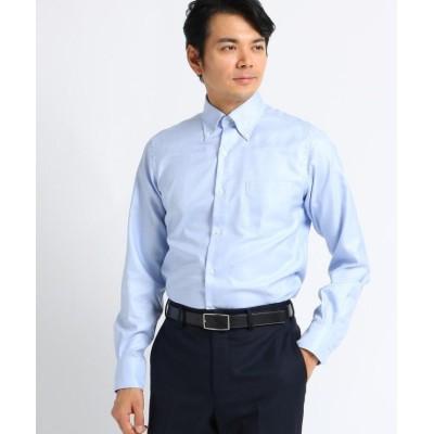 【タケオキクチ】 シャークスキン ビジネスシャツ メンズ ブルー 03(L) TAKEO KIKUCHI