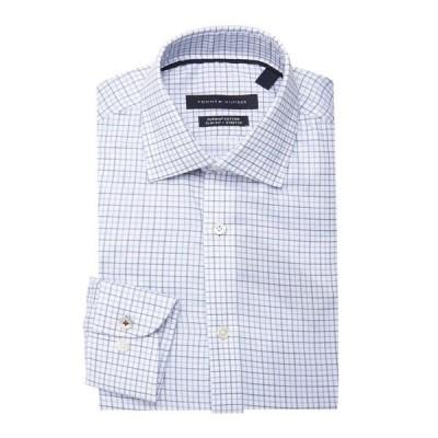 トミー ヒルフィガー メンズ シャツ トップス Slim-Fit Non-Iron Check Dress Shirt Periwinkle