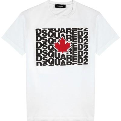 ディースクエアード Dsquared2 メンズ Tシャツ トップス White Logo-Print Cotton T-Shirt White