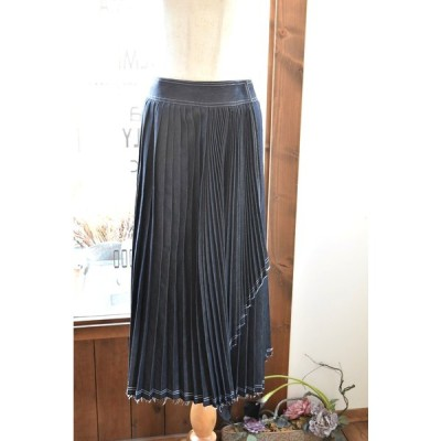 MIHOKO SAITO(ミホコサイトウ) 20S/S デニムプリーツ巻きスカート