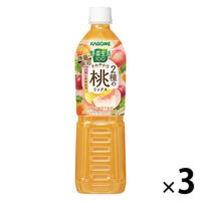 カゴメカゴメ 野菜生活100 さわやかな2種の桃ミックス スマートPET 720ml 1セット(3本)【野菜ジュース】