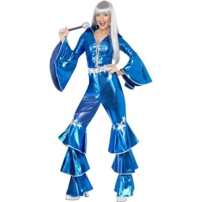 歌手 青 衣装、コスチューム ディスコ 大人女性用 1970's Dancing Dream