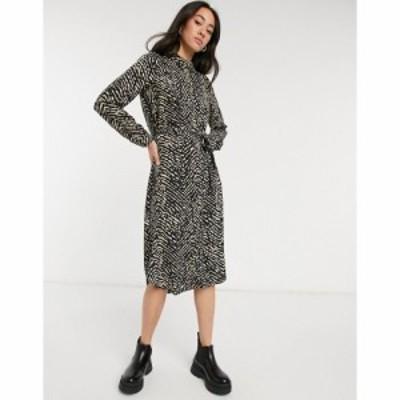 ヴェロモーダ Vero Moda レディース ワンピース シャツワンピース ワンピース・ドレス Midi Shirt Dress In Animal Print マルチカラー