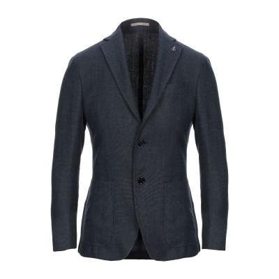 パオローニ PAOLONI テーラードジャケット ダークブルー 46 リネン 57% / バージンウール 43% テーラードジャケット