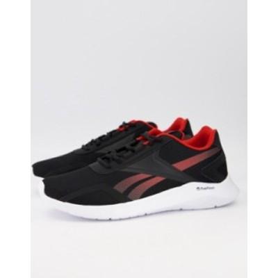 リーボック メンズ スニーカー シューズ Reebok energylux 2.0 sneakers in black Black/legacy red/whi