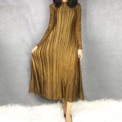ドレス 4色 ロングタイプ エレガント 女性 レース 長袖 ロングスリーブ 高品質 2020 Vestido YE699 LANMREM