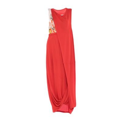 マルニ MARNI ロングワンピース&ドレス レッド 40 レーヨン 100% / キュプラ ロングワンピース&ドレス
