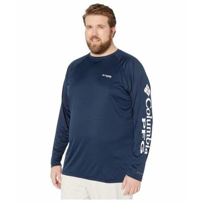 コロンビア シャツ トップス メンズ Big & Tall Terminal Tackle L/S Shirt Collegiate Navy/White Logo