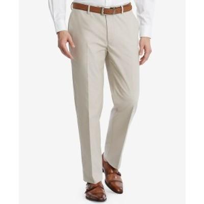 トミー ヒルフィガー メンズ カジュアルパンツ ボトムス Men's Modern-Fit TH Flex Stretch Chambray Suit Pants Tan